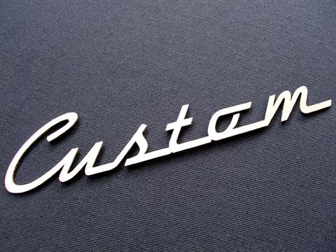 Bildergebnis für Custom Schriftzug