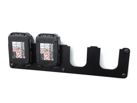 Wandhalterung für Makita Akku 14,4V &  18V LXT Serie Akkuhalter 4-Fach